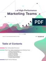 Habits of High Performance Marketing Teams