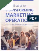Transforming Marketing Operations