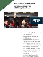 Ley de Comunicación Del Poder Popular Diapositiva