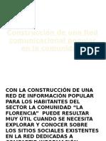 Construcción de Una Red Comunicación Popular Diapositivas