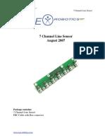 7 Channel Line Sensor