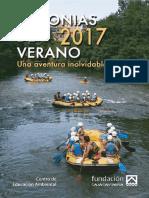 Colonias de verano 2017. Folleto informativo