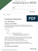 Calculos de Alguns Pontos IEC60287