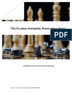 "GETT ""The EU plays monopoly, Russia plays chess"""