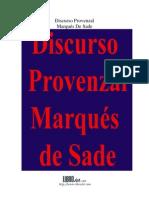 Discurso provenzal - Marqués de Sade