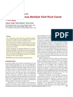Single Visit Versus Multiple Visit Root Canal Therapy