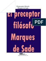 El perceptor filosofo - Marqués de Sade