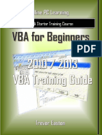 VBA for Beginners eBook Learn VBA -