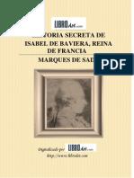 Historia secreta de Isabel de Baviera, reina de Francia - Marqués de Sade