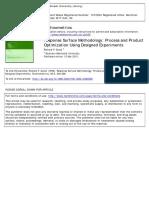 2012-Response Surface Methodology Process and Product Optimization Using Designed Experiments