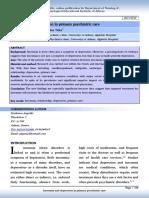 Insomnia and Depression in Primary Psychiatric Care
