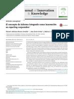 El Concepto de Informe Integrado Como Innovaci n en Reporting Corporativo 2016 Journal of Innovation Knowledge