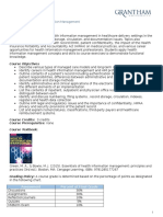 Intro to Health Info Management syllabus