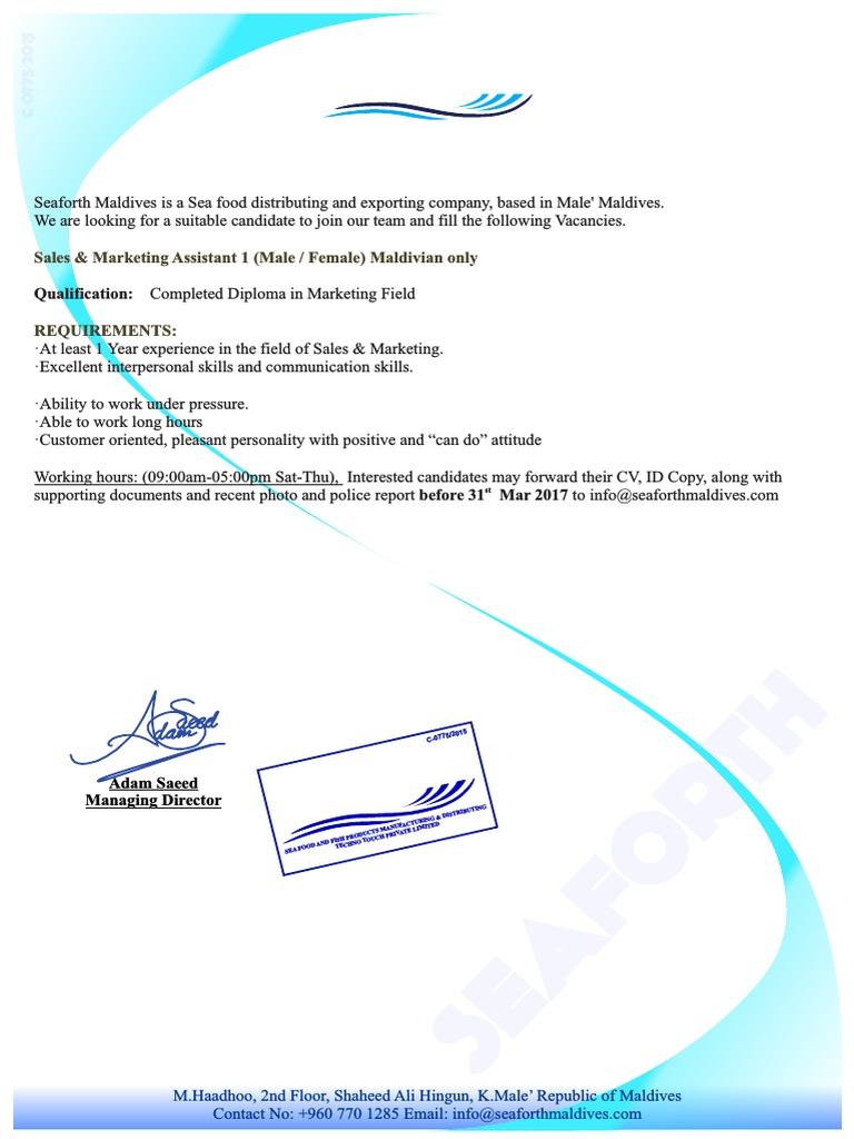 Job Vacancy 4 Communication Business