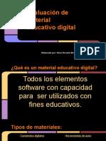 Evaluación de material digital presentación