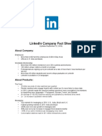 Linkedin Company Fact Sheet 09-22-16