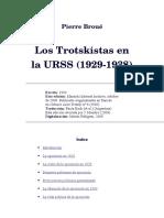 Broué, Pierre (MIA) - Los Trotskistas en La URSS