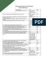 Audit Security Checklist