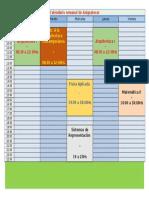 Calendario Semanal de Asignaturas Arquitectura FADU