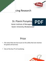 S 7-Pricing Research-Dr Plavini