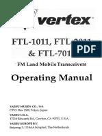 Ftl X011 Manual