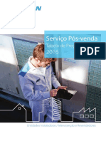 Tabela Serviço Daikin 2016