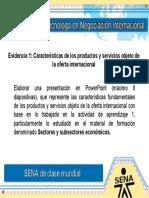 Evidencia 1 Caracteristicas de los productos y servicios objeto de la oferta internacional.ppt
