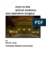 Introduction to the Topographical Anatomy and Operative Surgery