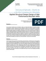 diseño estructural aplicado al diseño de bicicletas de alta competencia o montaña