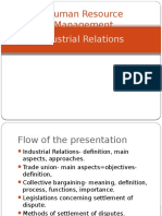 Industrial Relations – Definitions and Main Aspects Trade Union Legislations, Methods of settling Industrial Disputes, Collective Bargaining, Legislations Concerning, Settlement of Industrial Disputes