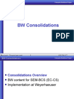 SAP BW Consolidations