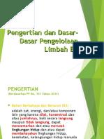 1 - Pengertian dan dasar-dasar Pengelolaan Limbah B3.ppt