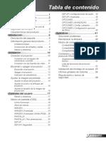 Manual Proyector h180x m Es
