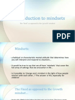 in introduction to mindsets