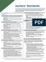 teachers standard information