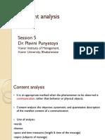 S 5-Content Analysis-Dr Plavini