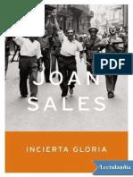 Joan Sales. Incierta Gloria