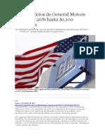 EDH - Los Beneficios de General Motors Cayeron 26 - 04 02 15