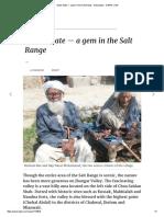 Vahali State — a Gem in the Salt Range - Newspaper - DAWN