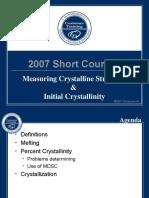 Polymer_Criytallinity _Course-2007.ppt
