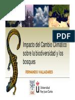 Impacto del Cambio Climático sobre la Biodiversidad y los Bosques