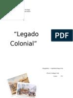 Trabajo de Investigación Legado Colonial Los angeles Chile
