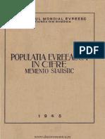 Populatia Evreiasca in Romania
