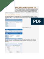 OA Framework Setup and VO Extension