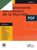 Les Traitements Des Cancers de La Thyroide 2013