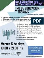 2014 Afiche Encuentro de Educación y Trabajo