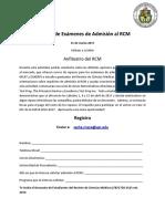Registro Repasos de Exámenes de Admisión en UPR RCM 2017