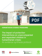 The Impact of Protection Interventions on Unaccompanied and Separated Children in Humanitarian Crises