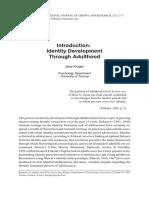 Introduction IdentityDevelopment ThroughAdulthood