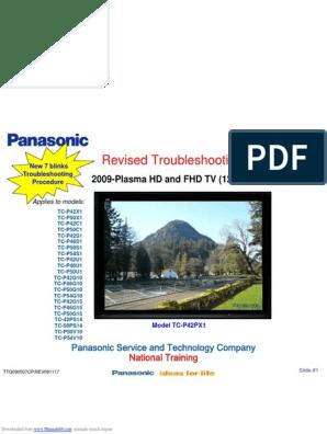 Troubleshooting Panasonic Plasma TV Tcp42x1